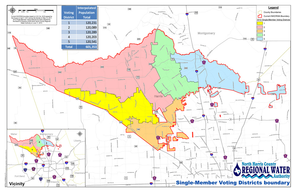 Single-Member Voting Districts boundary